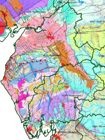 Cumbria's varied bedrock geology