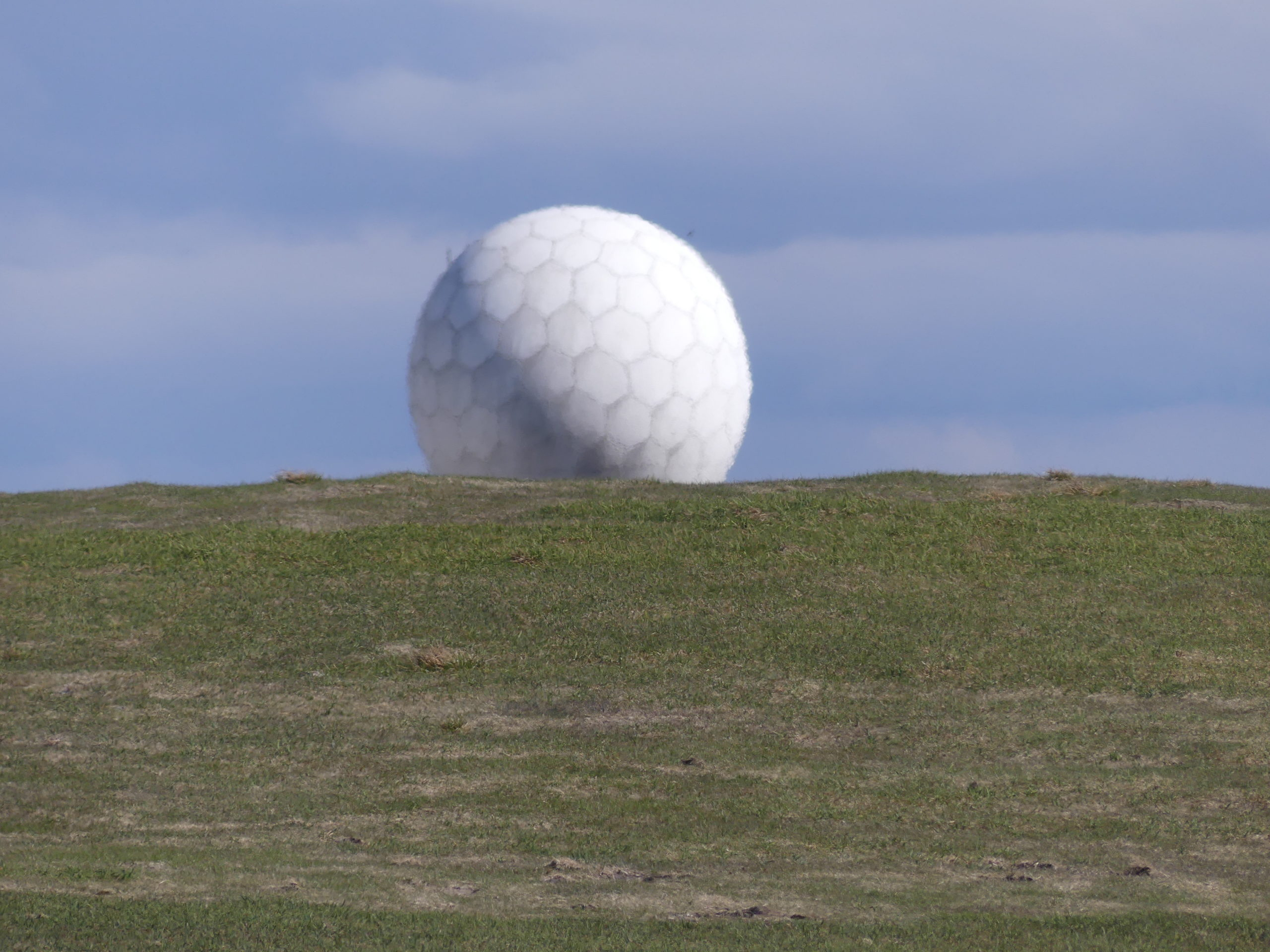 The Great Dun Fell golf ball radar staion