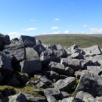 Little Dun Fell boulders looking north to Cross Fell