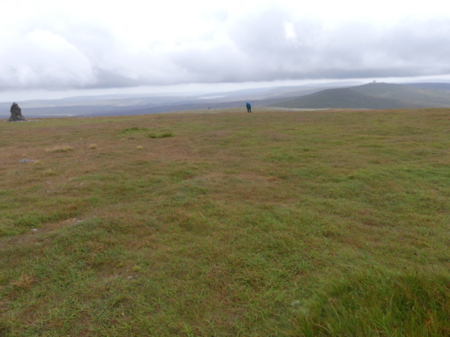 Cross Fell summit plateau looking south to Great Dun Fell