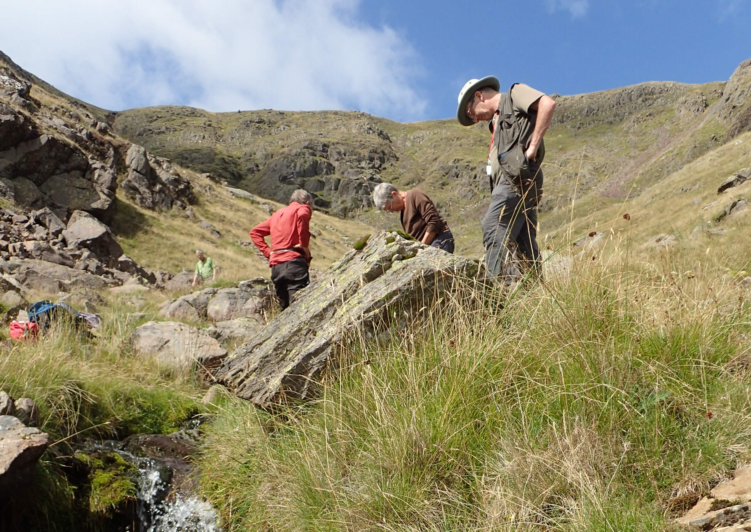 CLBG exploring the gill below Red Screes and Kilnshaw Chimney