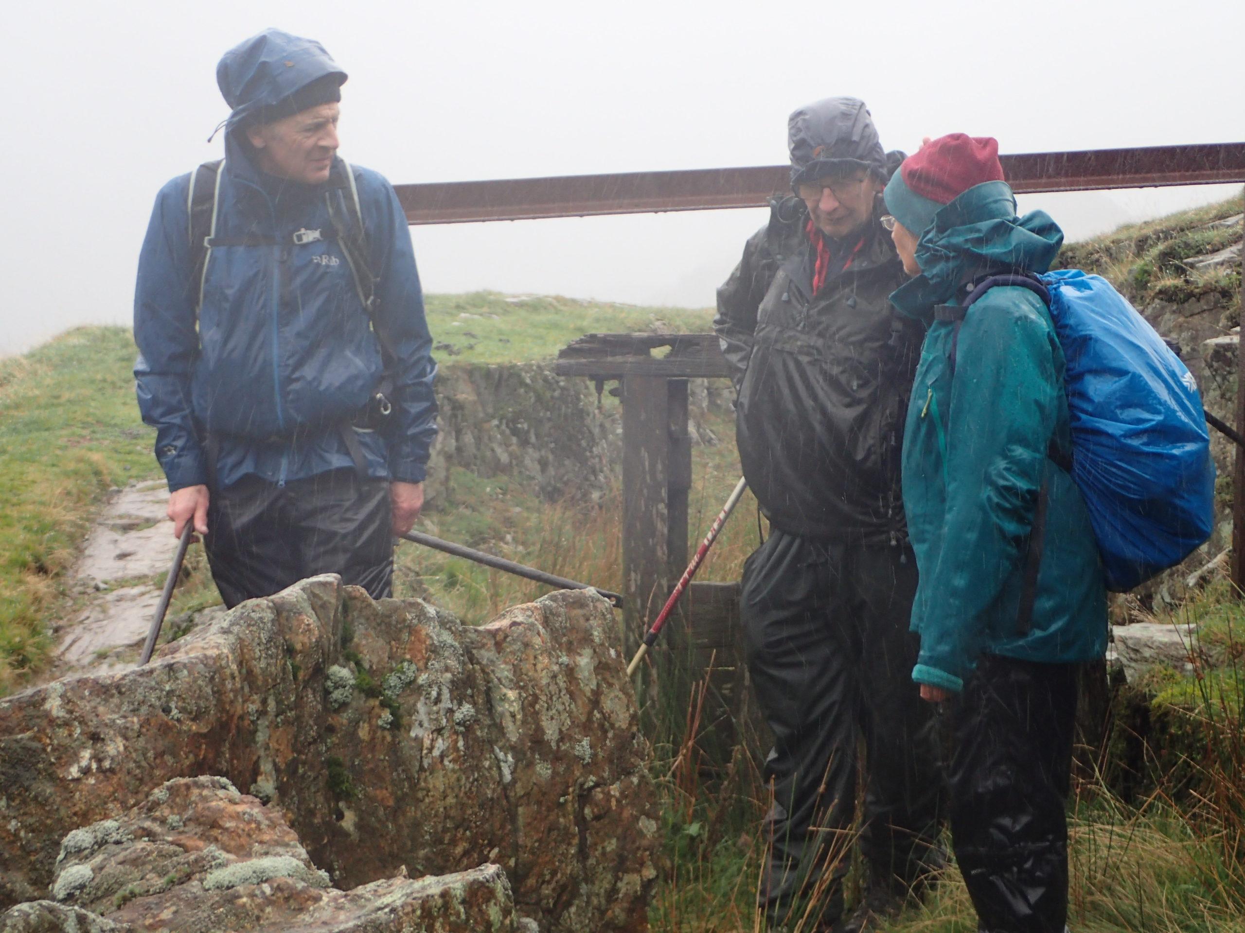 Raining at the sluice gate